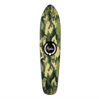Njoku Camo 'Wreath' Skateboard. Skate Boards