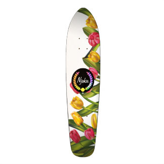 Njoku Colourful 'Wreath' Floral Skateboard. Skateboard