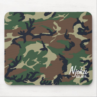 Njoku 'Est.2015' Logo Camo Mousepad. Mouse Pad