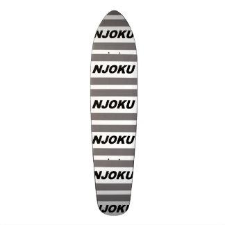 Njoku 'Grey' Tiled Skateboard. 19.7 Cm Skateboard Deck