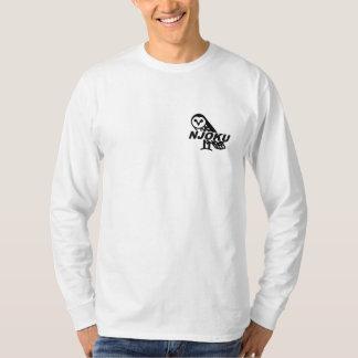 Njoku 'Owl' Logo Long Sleeve T-Shirt. Tshirt