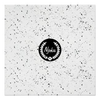 Njoku Speckle 'Wreath' Logo Poster.