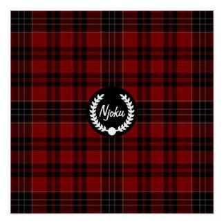 Njoku Tartan 'Wreath' Logo Poster.