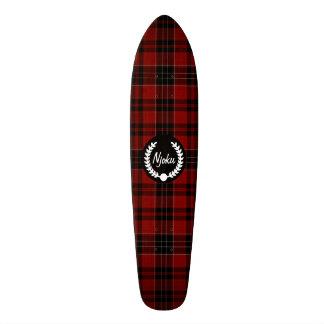 Njoku Tartan 'Wreath' Skateboard. 18.1 Cm Old School Skateboard Deck