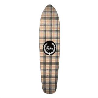 Njoku Tartan 'Wreath' Skateboard #2.