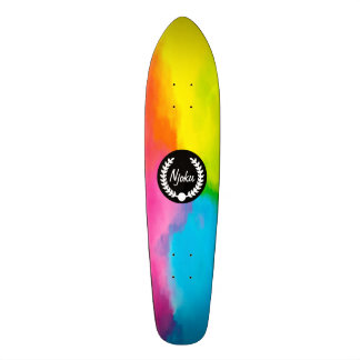 Njoku Tie-Dye 'Wreath' Skateboard #2.