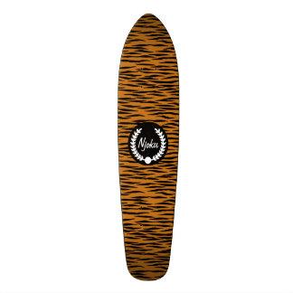 Njoku Tiger Skin 'Wreath' Skateboard. 18.1 Cm Old School Skateboard Deck