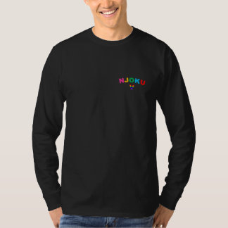 Njoku V 'Rainbow' Logo Long Sleeve Black T-Shirt. T-shirts