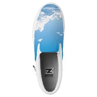 Njoku 'Wreath' Sky Print Slip-On Shoe. Printed Shoes