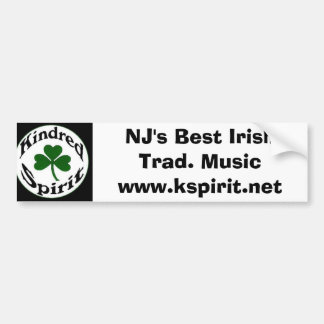 NJ's Best Irish Trad. Music Sticker Bumper Sticker