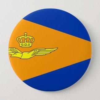 NL VLAG Luchtmacht, Netherlands 10 Cm Round Badge