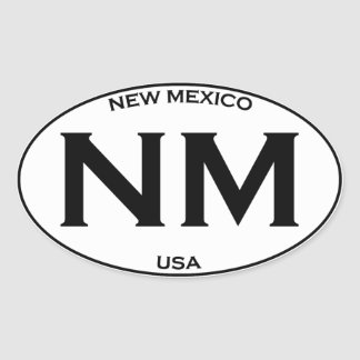 NM - New Mexico Oval Sticker