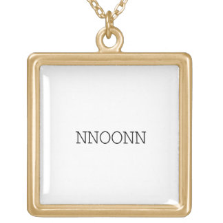 NNOONN SIMPLE LOGO NECKLACE PENDANT