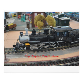 No #  1013 - Small Train,  Big Engine Small Town. Photo