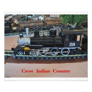 No #  1015 - Small Train,  Crow Indian Country.. Photo Print