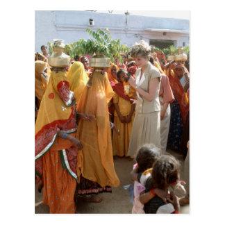 No.129 Princess Diana Calcutta 1992 Postcard