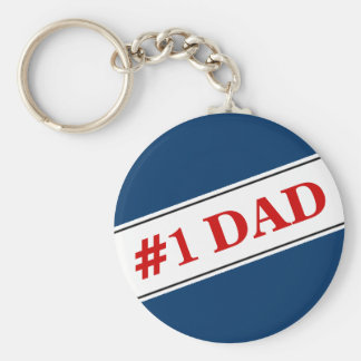 No 1 Dad Keychain