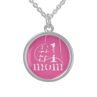 No 1 Mom, Mum, Mother, Mummy ... Sterling Silver Necklace