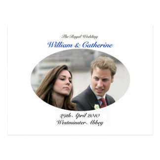 No.1 The Royal Wedding William & Catherine Postcard
