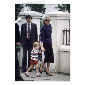 No.22 Prince William & Princess Diana 1985 Card