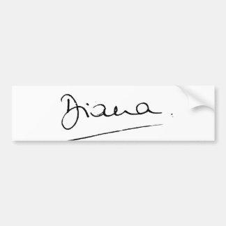 No.34 The signature of Princess Diana. Bumper Sticker