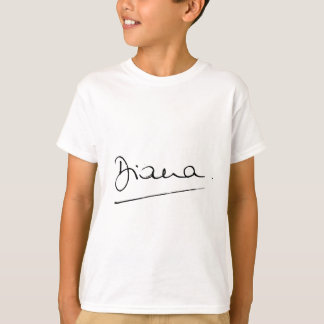 No.34 The signature of Princess Diana. T-Shirt