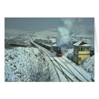 No. 48442 in a wintry setting at Chinley South Jun Card