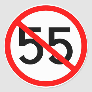 No 55 classic round sticker