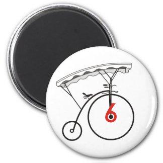 No. 6's Village Badge 6 Cm Round Magnet