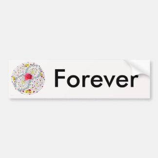 No. 8 Mandala with Roses and Diamonds Bumper Sticker
