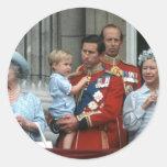 No.8 Prince Willam & Prince Charles 1984 Round Sticker