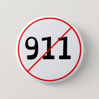 NO 911 logo A 6 Cm Round Badge