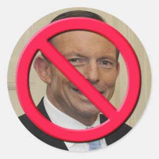 No Abbott Classic Round Sticker