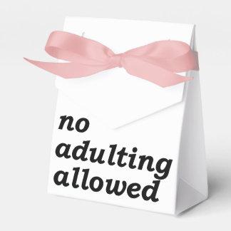 No Adulting Allowed Favor Box (Choose Ribbon Color Favour Box