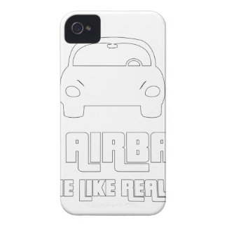 No airbags, we die like real man iPhone 4 cover