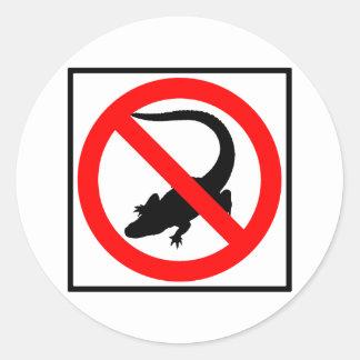 No Alligators Highway Sign Round Sticker