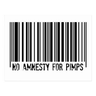 No Amnesty For Pimps - postcard