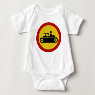 No Armored Vehicles, Traffic Sign, Bosnia Baby Bodysuit