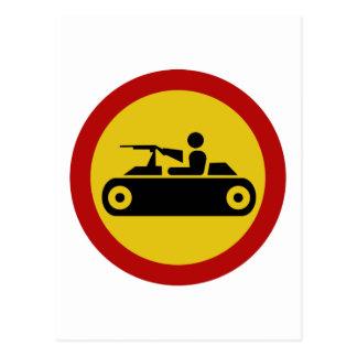 No Armored Vehicles, Traffic Sign, Bosnia Postcard