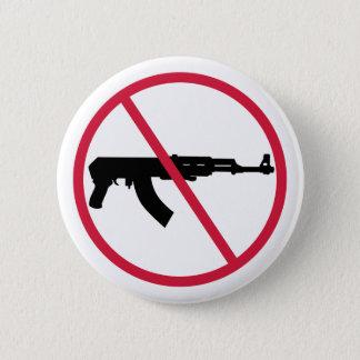 No assault weapons 6 cm round badge