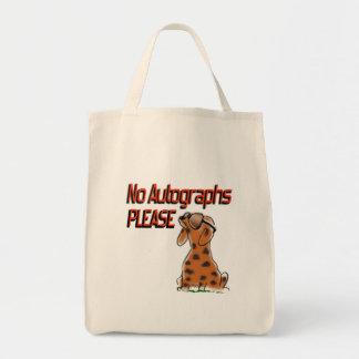 No Autographs Grocery Tote Bag