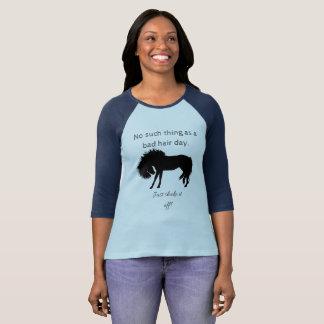 No Bad Hair Days, Just Shake it Off! Fun Horse T-Shirt
