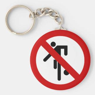 NO Ball Games ⚠ Thai Park Sign ⚠ Basic Round Button Key Ring
