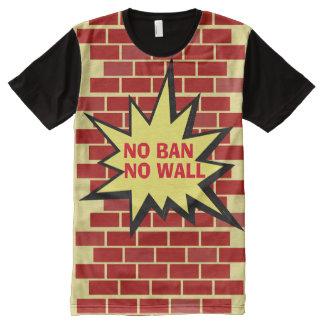 No Ban No Wall All-Over Print T-Shirt