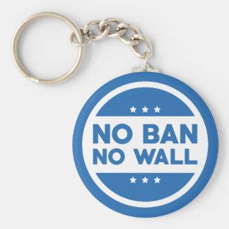 No Ban! No Wall! Key Ring