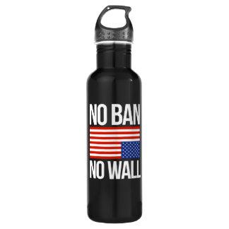NO BAN NO WALL - white -  710 Ml Water Bottle