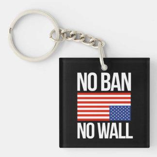 NO BAN NO WALL - white -  Key Ring