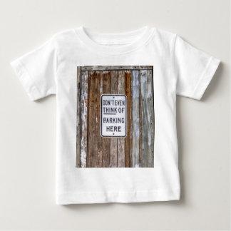 No Barking Sign Baby T-Shirt
