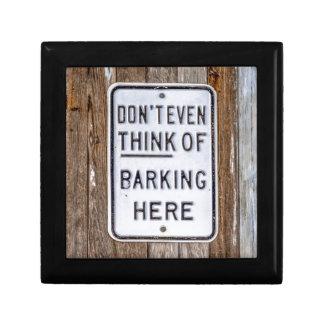 No Barking Sign Gift Box
