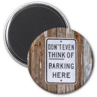 No Barking Sign Magnet